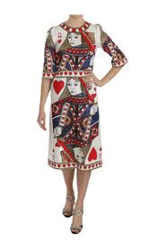Queen Of Hearts Card Sequined Dress