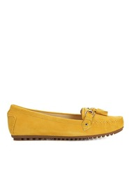 Novita Loafers Suede Yellow