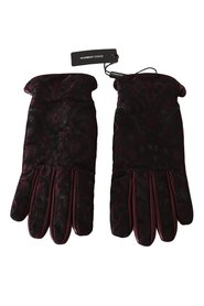 Jacquard Leather Gloves