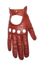 Kvinnors läderhandske i läder