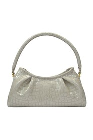 Dimple Bag Croco Pearl Leather