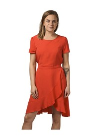 Onlnova Lux Frill Dress Solid 5