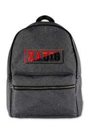 Zadig & Voltaire logo dark grey techno backpack
