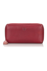 Leather Amazona Long Wallet