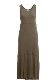 SEAMED JERSEY LONG TANK DRESS