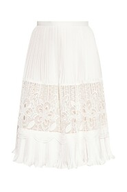 Skirt with openwork cut-outs