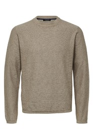 Sand Selected Homme Slhpage Cashmere Genser