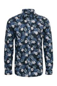 Blå Matinique Trostol B1 Flower Skjorte
