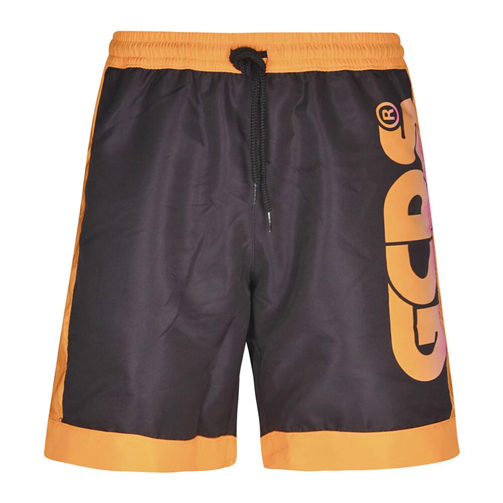 Black Logo denim shorts  GCDS  Shorts