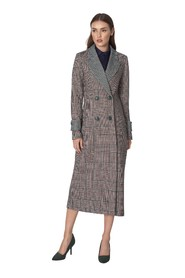 Dwurzędowy płaszcz we wzór