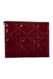 Cannage Patent Leather Wallet