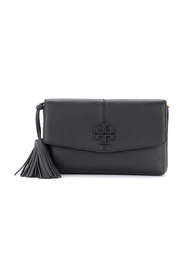 McGraw leather shoulder bag with tassels