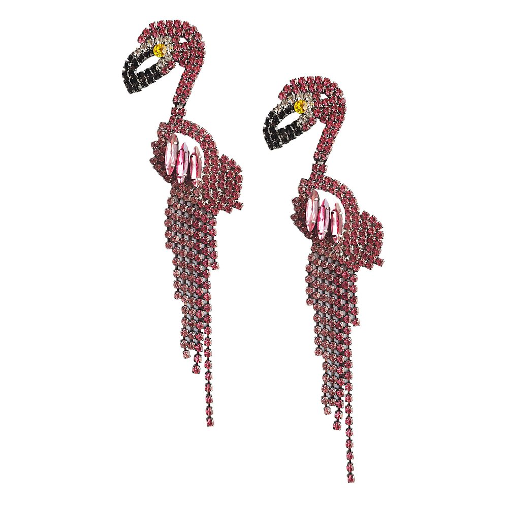 FLAMINGO Pink Earrings