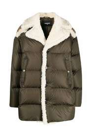 Faux Shearling-Lined Padded Coat