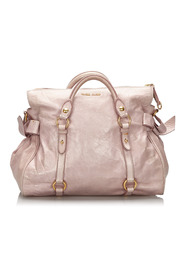 Vitello Lux Bow Leather Handbag