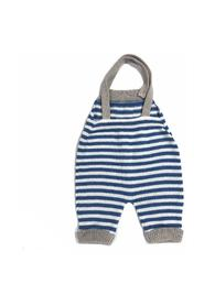 HORIZONTAL STRIPED OVERALLS WITH RIBBED RIMS