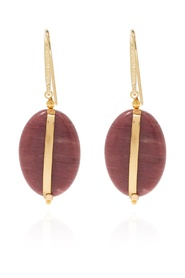 Earrings with decorative stone