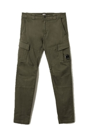 Garment Dyed Stretch Sateen Fitted Lens Pocket Cargo Pants