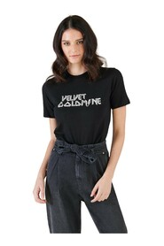 T-Shirt Con Iscrizione In Glitter