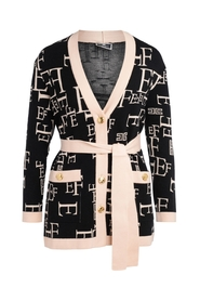 Cardigan with Lettering Print