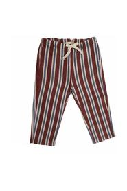 VERTICAL STRIPED TROUSERS WITH ELASTIC AND LACE