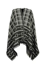 Monogram pattern cape