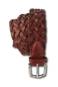 CUOIO BRAIDED LEATHER BELT