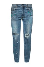 Jeans with a paint splatter effect
