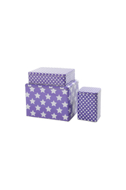 Smallstuff Metal Box with stars, 3 sizes purple