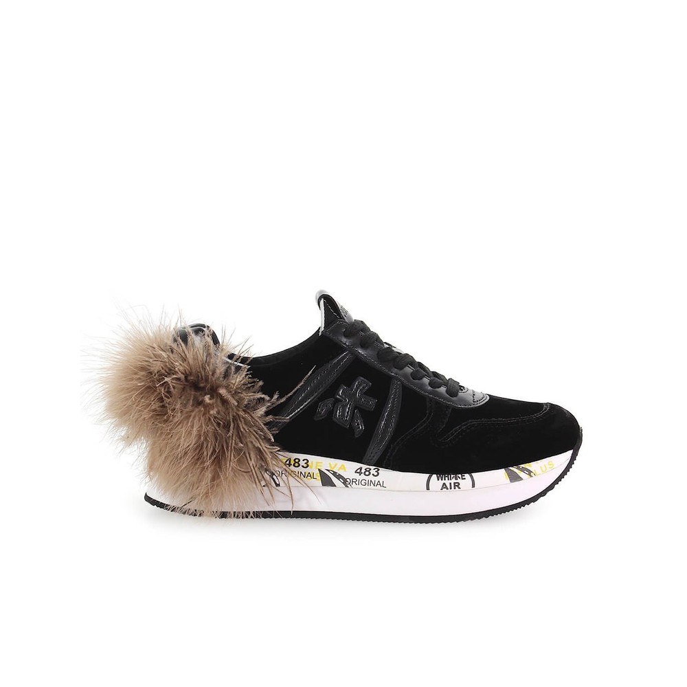 HOLLY 3388 SNEAKER WITH FEATHER