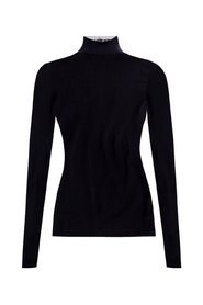 Roll neck top with logo