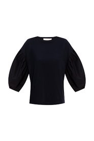 Top with puffed sleeves