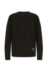 Patched wool sweater