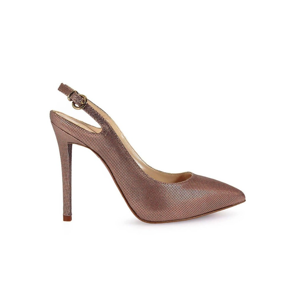 LAMINERADE SLING BACK PUMPS