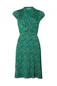 Pauline SS Dress - GREEN FLOWER, L