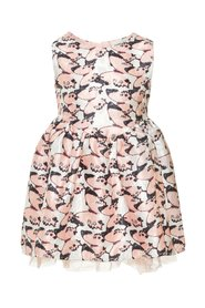 Dress butterfly printed jacquard