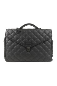 Quilted Leather Business Bag