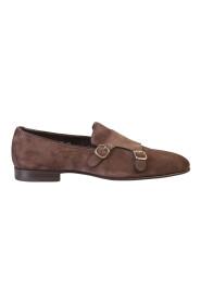 Suede leather monkstrap shoes