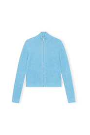 Soft Wool Knit Zip Cardigan
