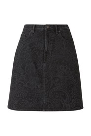 Paisley denim rok