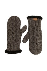 Chunky gloves natural brown