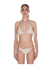 TWO-PIECE SWIMSUIT WITH SOLID LACES
