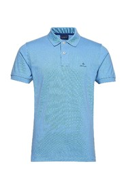 Contrast Collar Pique Ss Rugger T-Skjorte