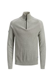 Knitted Pullover Half-zip high neck