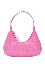 Baby Amber Bag in Circular Croco Embossed Leather