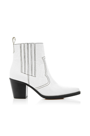 Ganni White Western Ankle Boots S0984