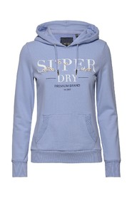Serif Floral Embroidered Hoodie