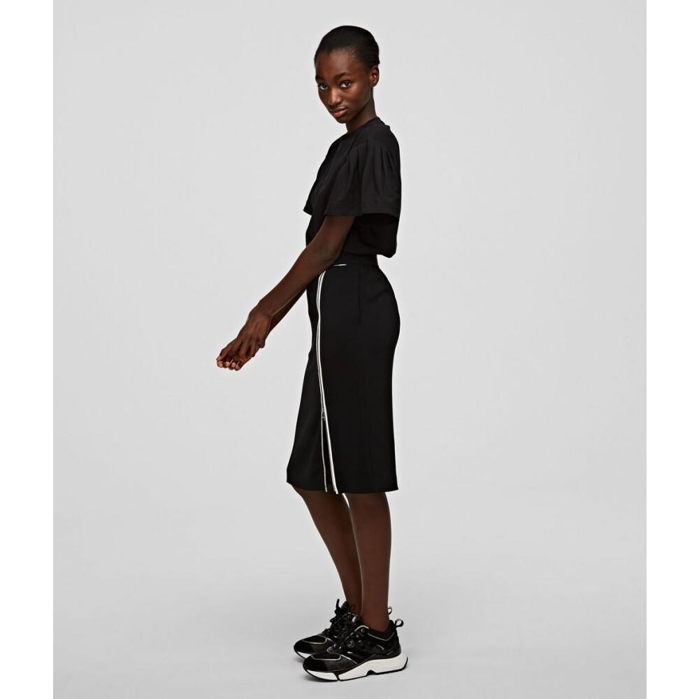Black Skirt | Karl Lagerfeld Midi- & Knelange Skjørt