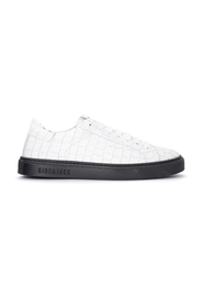 Croco leather sneakers