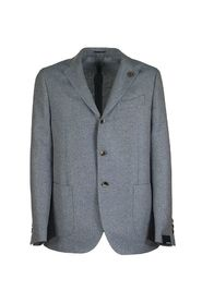 Single-breasted two-button jacket with herringbone pattern